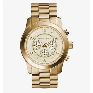 Michael Kors Oversized Runway Gold-Tone Watch